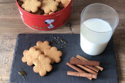 Biscotti al burro con miele e cannella, con farina di riso e farina di mais