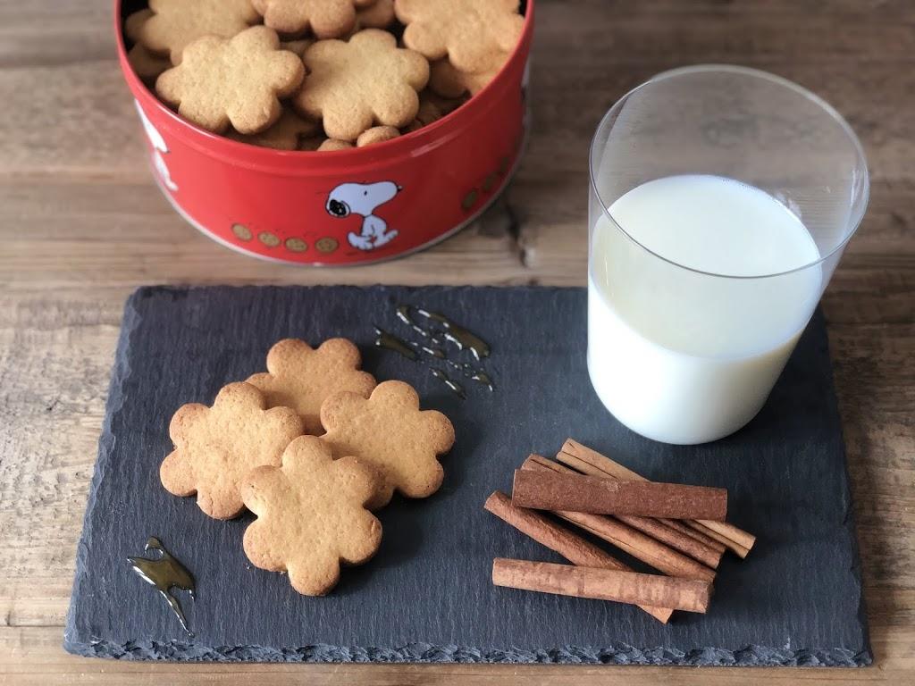 Biscotti al burro con farina di riso, di mais, miele e cannella
