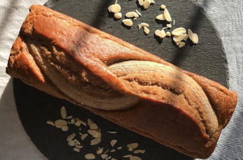 Banana bread al cocco, con farina di riso integrale, farina di cocco, senza latticini