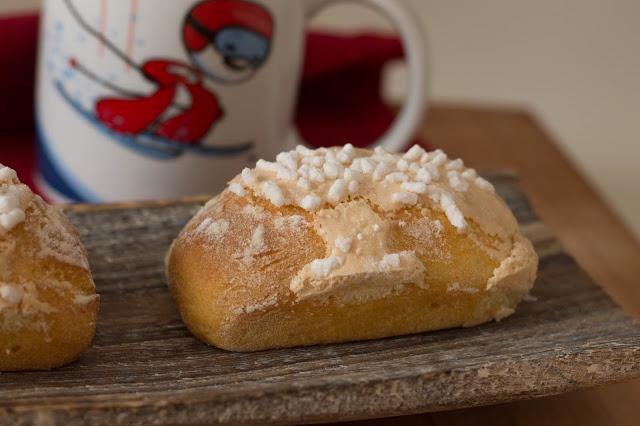 Brioche senza lattosio con glassa e granella di zucchero che si credono dei buondì