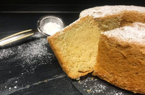 Chiffon cake con farina di riso, senza latticini, torta