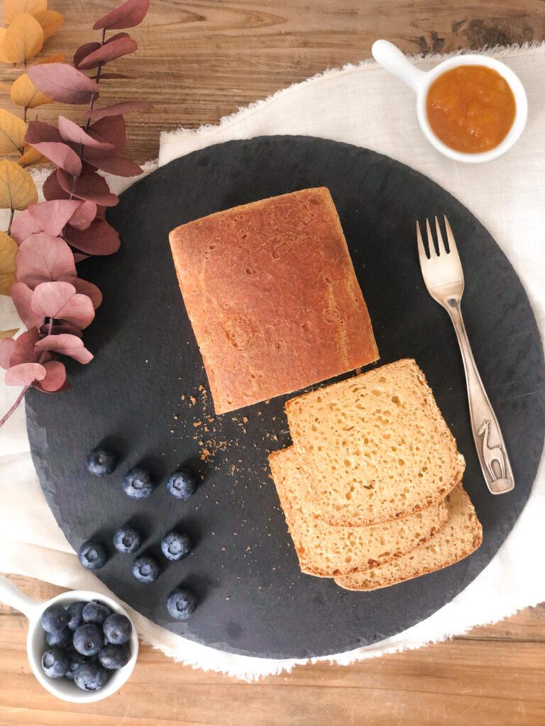 Pan brioche senza lattosio, con burro chiarificato, senza mix, con farina di riso e farina di mais